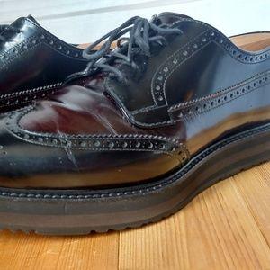 Prada Shoes - Men's PRADA Spazzaloto Nero Bruciato Wing-Tip 10